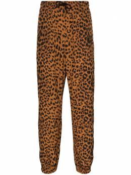 Wacko Maria спортивные брюки с леопардовым принтом 20SSWMOTP02