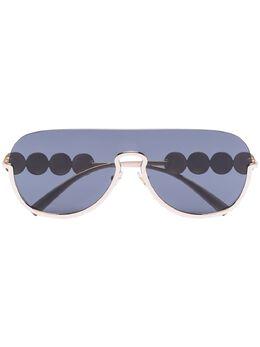 Versace Eyewear солнцезащитные очки-авиаторы с декором Medusa 0VE2215