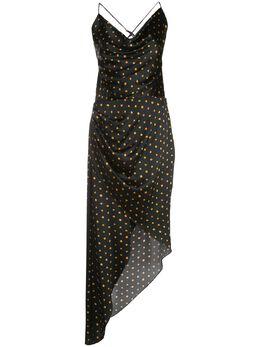 Haney платье асимметричного кроя в горох SS208123