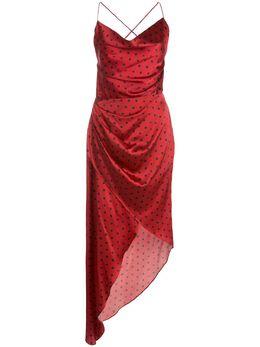 Haney платье-комбинация Holly асимметричного кроя SS208123