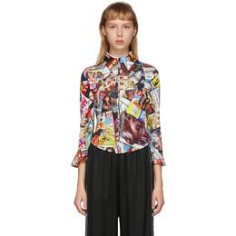 Balenciaga Multicolor Magazine Zip-Up Shirt 621882-TILQ7