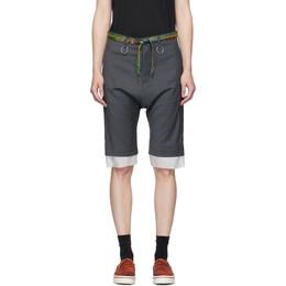 R13 Grey Shoelace Belt Shorts R13W7724-11U