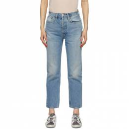 Re/Done Blue 70s Stove Pipe Jeans 140-3WSTV27