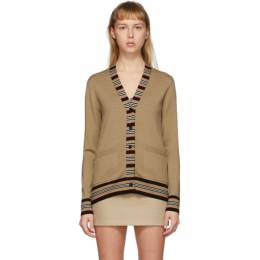 Burberry Tan Icon Stripe Cardigan 8010606