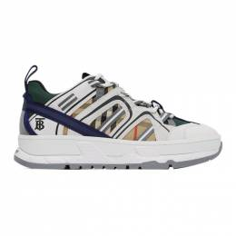 Burberry White and Beige Union Sneakers 8027322
