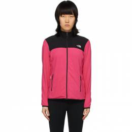 The North Face Pink and Black TKA Glacier Full-Zip Pullover NF0A48KJ