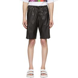Dries Van Noten Black Coated Cotton Shorts 20949-9174-900