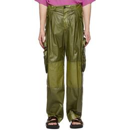 Dries Van Noten Khaki Coated Cargo Pants 20959-9174-606