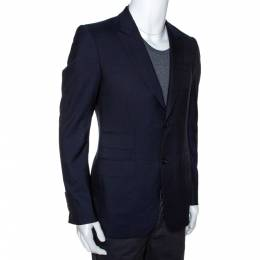 Gucci Midnight Blue Wool Double Button Tailored Blazer S 286235