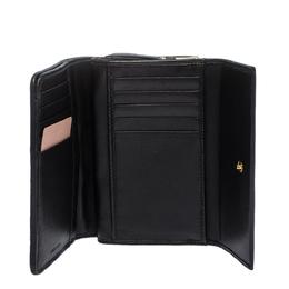 Miu Miu Black Matelasse Leather Flap Compact Wallet 286985