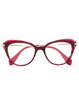 Miu Miu Eyewear очки в оправе 'кошачий глаз' MU01QV