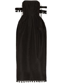 Rosie Assoulin платье макси Bangles and Bobbles с открытыми плечами R202D21WS020SilkFaille