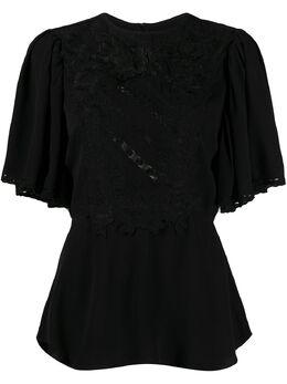 Isabel Marant топ с драпировкой и вышивкой HT174220E024I