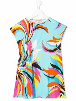 Emilio Pucci Junior платье-футболка с узором 9M1071MC750