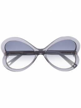 Chloe Eyewear массивные солнцезащитные очки с эффектом градиента CE764S