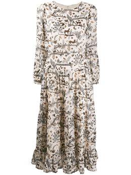 Saloni платье миди с принтом 19741445