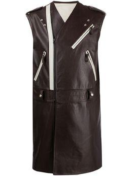Raf Simons длинная куртка без рукавов 20165340020
