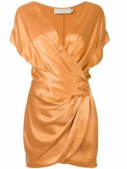 Michelle Mason платье с открытыми плечами и запахом M9284