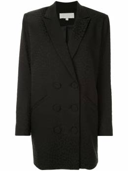 Michelle Mason жаккардовое платье-блейзер с леопардовым узором M5400