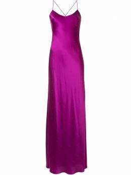 Michelle Mason платье на бретелях со стразами M9272