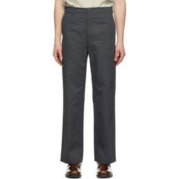 Lemaire Grey Straight-Leg Chino Trousers M 201 PA145 LF426