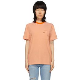 Noah Nyc Orange Stripe Pocket T-Shirt KN21SS20ORG