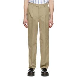 Noah Nyc Tan Cotton Suit Trousers P7SS20