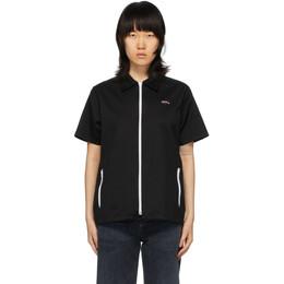 Noah Nyc Black Zip Work Shirt S13SS20BLK