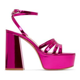 Gianvito Rossi Pink Angelica Heeled Sandals G31675-70RIC-MET