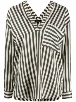 Antonelli полосатая блузка с V-образным вырезом C1048BAKUL
