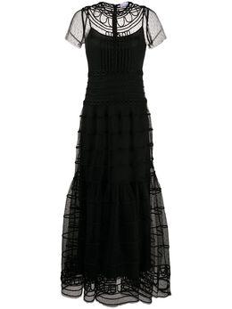 Red Valentino длинное платье из тюля TR0VA09A55N