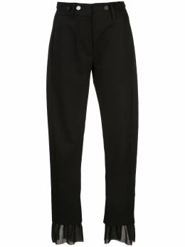 Ann Demeulemeester брюки строгого кроя со вставками из тюля 20011400P170