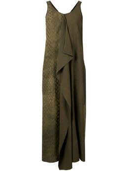 Uma Wang платье макси со вставками UW5030R21P0