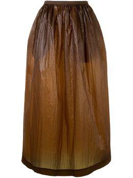 Uma Wang юбка миди с жатым эффектом UW2008R13P0