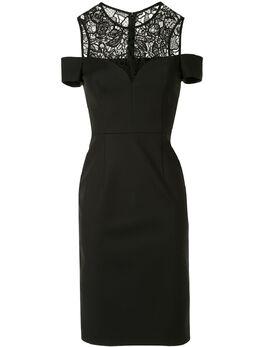 Paule Ka платье с кружевными вставками и вырезами 114R95