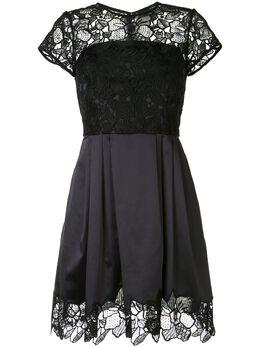 Paule Ka атласное коктейльное платье с цветочным принтом 213R185C