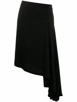 Ann Demeulemeester юбка асимметричного кроя со шнуровкой 20011650P155