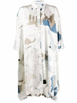 Off-White платье-рубашка с узором OWDB239S20FAB0040106