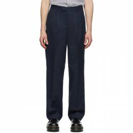 Noah Nyc Navy Cotton Suit Trousers P7SS20