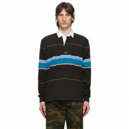 Noah Nyc Black Striped Rugby Polo KN1SS20