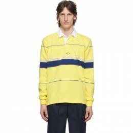 Noah Nyc Yellow Stripe Rugby Polo KN1SS20