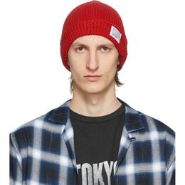 Visvim Red Knit Beanie 0120103003028