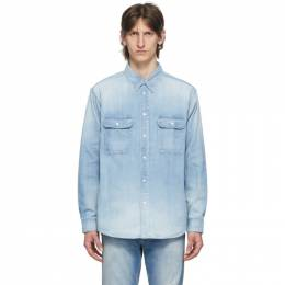 Visvim Blue Damaged Handyman Shirt 0120105007002
