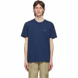 Noah Nyc Navy Logo Pocket T-Shirt PT1SS20