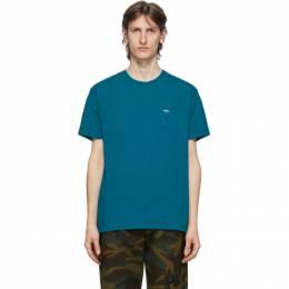 Noah Nyc Blue Logo Pocket T-Shirt PT1SS20
