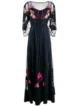 Temperley London платье из тюля с вышивкой 20UFEE53636