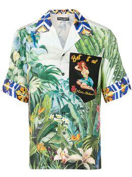 Dolce&Gabbana рубашка с короткими рукавами и принтом G5HM0TGEN51