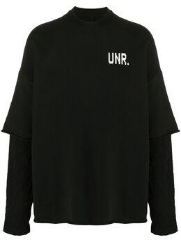 Unravel Project многослойная толстовка оверсайз UMBA018S20FLE0011001