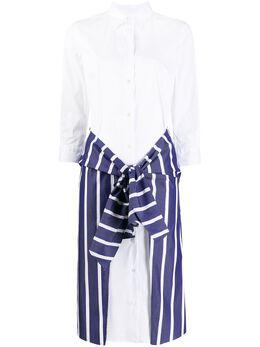 Sara Roka платье-рубашка с контрастной вставкой LICETT7014SS2001