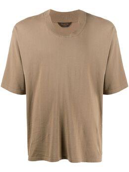 Ermenegildo Zegna Xxx футболка с деконструированным воротником CUZ90C02